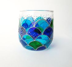 Mermaid Glass Candle Holder Tea light Holder Mermaid by ArtMasha