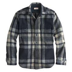 Wallace & Barnes CPO jacket in English wool - Shirt Jackets - Men's shirts - J.Crew
