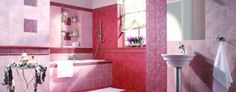 Stylish red and white tiles ideas for bathroom 45