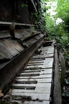 There is something so magical about this piano.I hope the woodsprites and fairies can make it magical.
