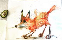 Avocado hunter http://ift.tt/2ioOFv1 Art watercolor acrylic doodle art painting artistsoftumblr watercolor