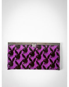 Playboy Bunny Head Print Flip Lock Wallet