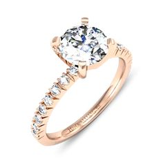 Dorine par Zeina Alliances :  Solitaire or rose diamant accompagné  #Mariage #wedding #bague Engagement Rings, Jewels, Weddings, Enagement Rings, Wedding Rings, Jewerly, Diamond Engagement Rings, Gemstones, Fine Jewelry