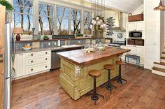 Corrugated metal backsplash kitchen rustic with wood cabinets rustic wood