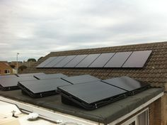 Solar installation by Energy For Britain in South West England on a standard roof and a flat roof.