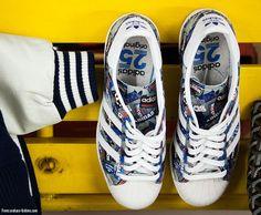 san francisco f6097 a61ec Adidas Superstar 80s Pioneers Nigo Snicker Shoes, Nigo, Adidas Official,  Basketball Sneakers,