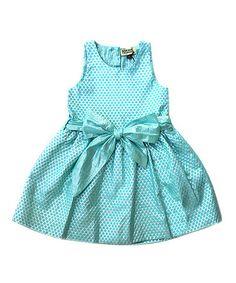 Look at this #zulilyfind! Seafoam & Silver Argentine Dress - Infant, Toddler & Girls #zulilyfinds