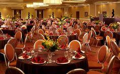 Wedding reception set up at the Omni Newport News Hotel