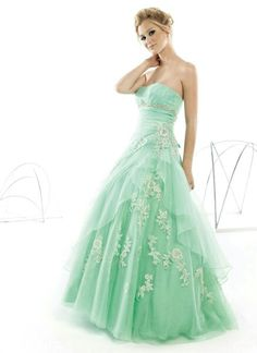 Green Ball Gown Prom Dress