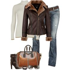 """Aviator Jacket"" by partywithgatsby on Polyvore"