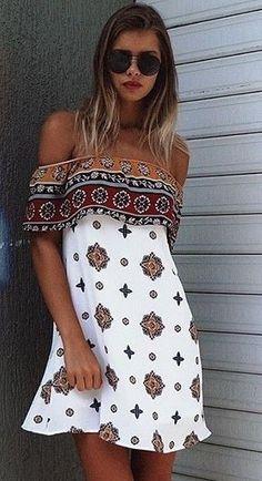 #summer #warm #weather #outfit #ideas | Little Print Dress