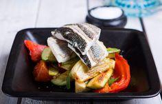 Ψητό φιλέτο λαβράκι με λαχανικά φούρνου Cooking, Kitchen, Brewing, Cuisine, Cook