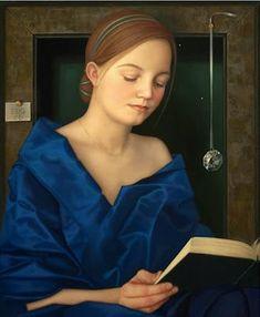 Ellen de Groot. Blue Dress.