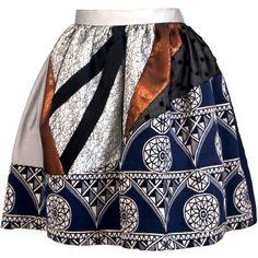 Joana Almagro - Murano Skirt (6,250 MXN) ❤ liked on Polyvore featuring skirts, bottoms, print skirt and pattern skirt