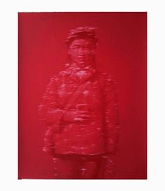 by Zhou Qi | Silk screen print | Limited Edition | Post-Mao Art | Cultural Revolution | Monochrome Red | Shop artwork online | Art Collector | Chinese Contemporary Art | Asian Contemporary Art