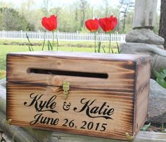 Large Rustic Wedding Card Box Keepsake Chest Every Love Story Is Beautiful Antiqued Personalized Custom Wood Country Barn style weddings
