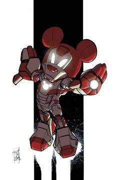 Iron Mouse by briannacherrygarcia Mickey Mouse Y Amigos, Mickey Mouse Art, Mickey Love, Minnie Mouse, Mickey Mouse And Friends, Arte Disney, Disney Diy, Disney Pixar, Disney Characters
