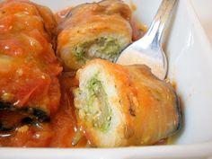 involtini di melanzana e pesce spada con pesto di zucchine                     #recipe #juliesoissons