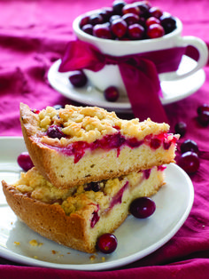 Slow-cooker Cranberry Orange Cake (could sub in any fruit or pie filling and adjust flavor of glaze). Other delicious crockpot recipes on this site too.