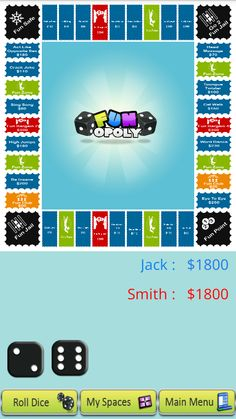 Funopoly: screen two