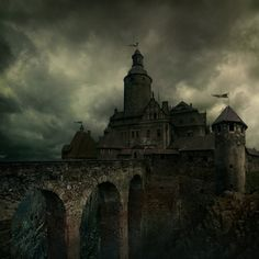 Czocha castle (Poland) was built as a stronghold and dates back all the way to 1329.  It has been featured in several films.  Recently the castle was used as the setting for the College of Wizardry a live action role-playing game (LARP) that takes place in the Harry Potter universe.