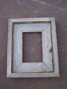Lot Of 3 Deluxe 4x6 Barnwood Picture Frames. Rustic Weathered
