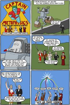 Captain Metaphysics and the Ghost in the Machine - Existential Comics