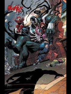 """Venom en """"Amazing spiderman:renovando los votos"""" porque uno no puede tener cosas lindas ATT. Su vecino y amigo Spidey"""