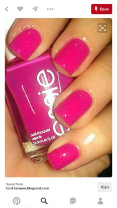 37 Gorgeous Nail Art For Fall - Essie Secret Story pretty pink polish- new new, can't wait to see how this looks on my nails Pink Polish, Essie Nail Polish, Nail Polish Colors, Essie Colors, Summer Nail Polish, Summer Nails, Get Nails, Love Nails, How To Do Nails