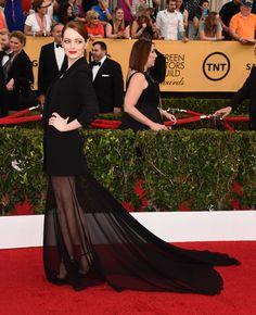 Emma Stone 2015 Screen Actors Guild Awards Red Carpet