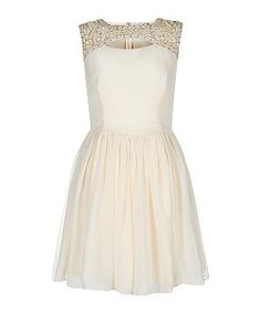 Winter White (Cream) Cream Embellished Cut Out Prom Dress | 283256312 | New Look