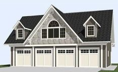 4 Car two Story Garage Plan 2402-1 50' x 28' by Behm Designs suitable for Apartment, Carriage House, Dormer, Loft, Oversized, SUV pdf Garage Plans