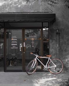 credit Lantai Bumi Coffee and Space How To Make Coffee, Making Coffee, Bread Shop, Coffee Store, Store Fronts, Coffee Drinks, Concrete, Exterior, Places