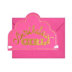 Birthday Girl Crown Card by Sugar Paper. A birthday card that's also a pretty crown. I'd love to give and receive this!