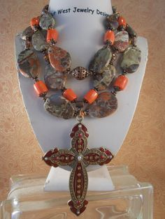Christian Cowgirl Necklace Set  Chunky by Outwestjewelry on Etsy