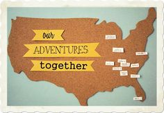 Cork board travel map tutorial. I need to make one of these.