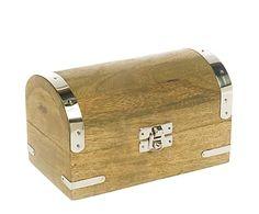 Baúl de madera de pino y aluminio Style