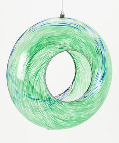 Look what I found on #zulily! Green Glass Circle Feeder #zulilyfinds