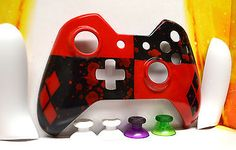 Harley Quinn Custom Painted Xbox One Controller Faceplate Batman Arkham Knight