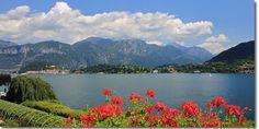 The view of Lake Como from the Villa Carlotta, Tremezzo