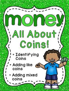Money Worksheets and Money Games and Activities HUGE Unit by Miss Giraffe Money Games For Kids, Money Activities, Phonics Activities, Writing Activities, Math Games, Preschool Activities, Teaching First Grade, First Grade Teachers, First Grade Math