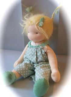 Waldorf style doll made by Poppenatelier Ineke Gray