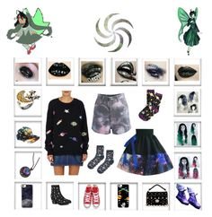 """""""Hero of space"""" by odscene on Polyvore featuring Casetify, Topshop, AZZA FAHMY, The Elder Statesman, Chicwish, Miu Miu, Y.R.U., Converse and Neon Moon"""