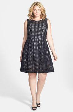 plus size women's city chic 'miss shady' stripe strapless fit