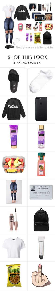 """CryBaby"" by mz-nbt ❤ liked on Polyvore featuring Puma, Victoria's Secret, Maybelline, Yves Saint Laurent, Proenza Schouler, MAC Cosmetics, Local Heroes and Speck"