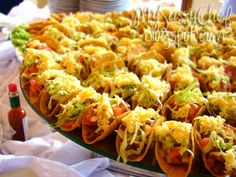 Vegan taco buffet platter. Brilliant idea! - make them with mini taco shells for finger food.