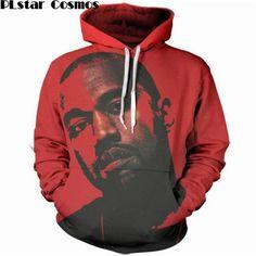 bf5152f5ab579 PLstar Cosmos 2017 new Fashion Brand clothing Hoodie 2pac Tupac 3D Print  Rapper Hoodies hip hop