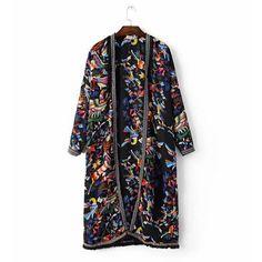 Купить товар2016 этническая печать вышивки кисточкой рубашка новый летний длинным рукавом бахромой кардиган блузка топы blusas сорочка роковой blusa в категории Блузки и рубашкина AliExpress.         2016 этнических цветок печати Вышивка кисточкой ф�%