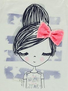 Illustrated Girl T-shirt, read reviews and buy online at George. Shop from our latest range in Kids. With sequins, bows, glitter and crochet panelling there'...