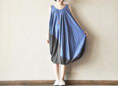 Strange Irregular Dress Women Tops Loose Fitting by clothingshow, $68.00